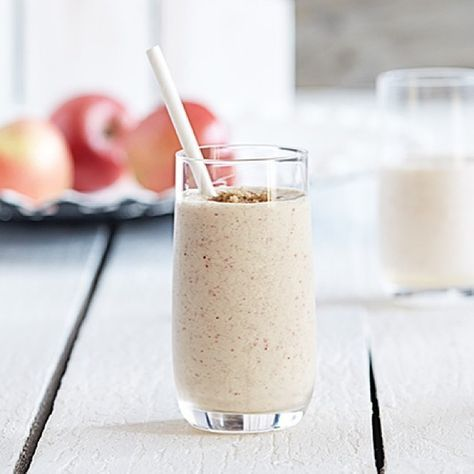 🍎Apple Pie Smoothie🍎  Ingredients  1 1/2 apples, halved, seeded, quartered 3/4 cup low fat vanilla yogurt 1 Tablespoon brown sugar or other sweetener, to taste 1/2 teaspoon apple pie spice 1 cup ice cubes  Directions:  Blend until smooth😋  #Smoothie_World