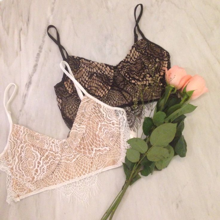 Beautiful lace details of the new bralette