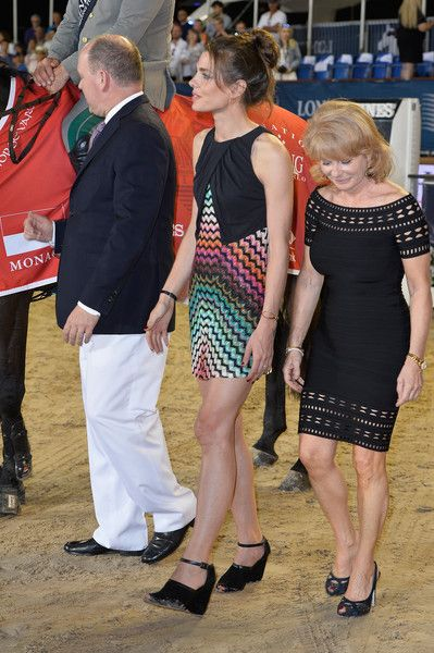 Charlotte Casiraghi Photos Photos - Charlotte Casiraghi (C) attends the winners ceremony of the Monaco 2015 CSI5* 1.60m during the Longines Global Champions Tour of Monaco on June 27, 2015 in Monaco, Monaco. - 10th International Monte-Carlo Jumping - Longines Global Champions Tour of Monaco : Day Three