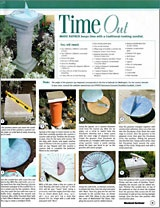 Making a sundial (plus index of other DIY's for outdoors  New Zealand site, so be ready for metric!