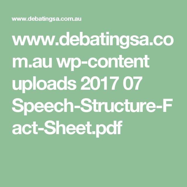 www.debatingsa.com.au wp-content uploads 2017 07 Speech-Structure-Fact-Sheet.pdf