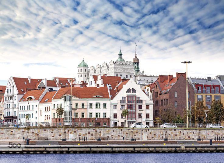 Szczecin (Stettin) City old town, riverside view, Poland. by Maciej Bledowski on 500px
