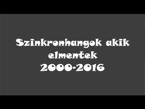 Szinkronhangok, akik nincsenek már köztünk (Frissített és javított verzió) - YouTube