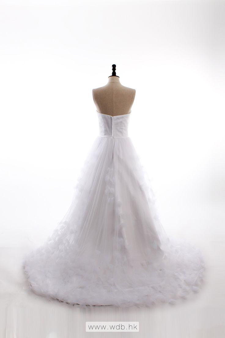 Fancy A-line sleeveless tulle wedding dress $398.98