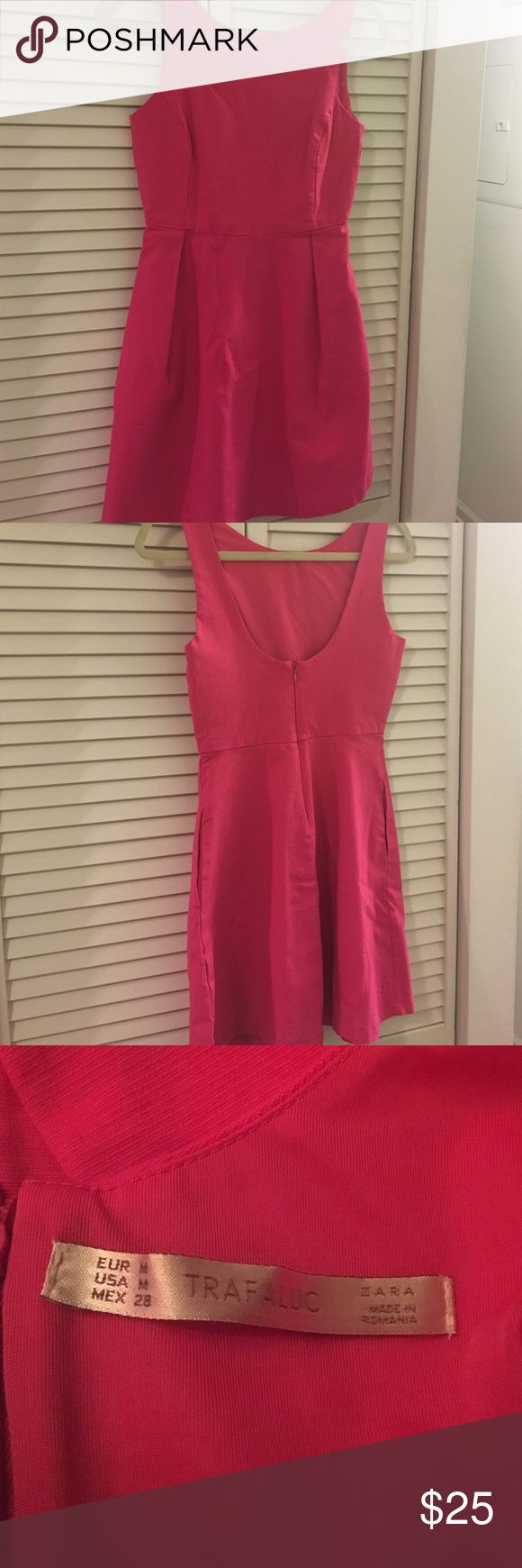 Dress Pink low back dress. Hits right above the knees. trafaluc Dresses