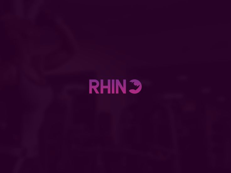 Rhino Gym Logo Design - Purple Gradient - PACTAN DESIGN