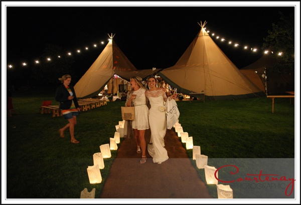 Paper lanterns and and a sparkling bride.  Image by http://www.courtenayphotographic.co.uk/