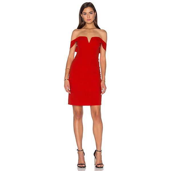 J.O.A. Off The Shoulder Mini Dress (38.970 CRC) ❤ liked on Polyvore featuring dresses, red off shoulder dress, red zipper dress, off the shoulder mini dress, short dresses and off shoulder dress