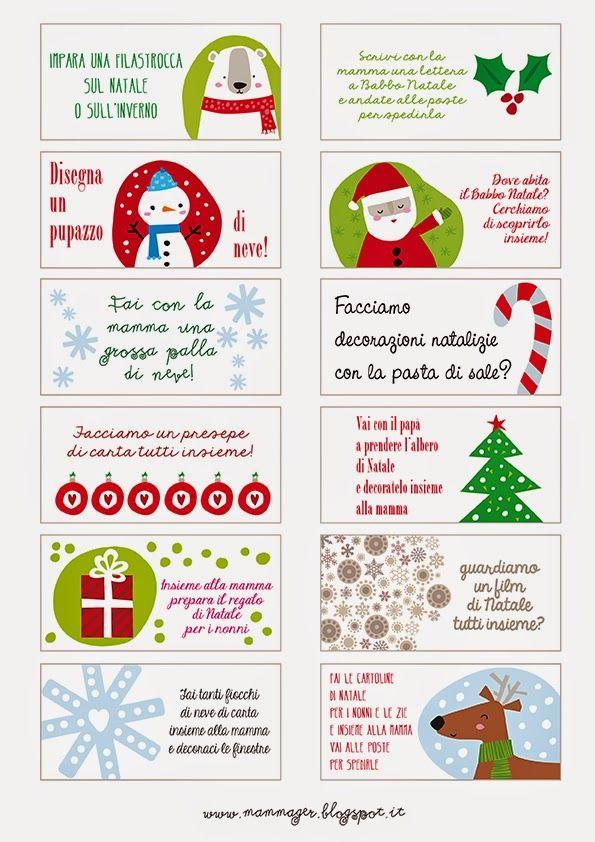 MAMMAger: Aspettando il Natale: calendario dell'Avvento con attività (per tutta la famiglia)