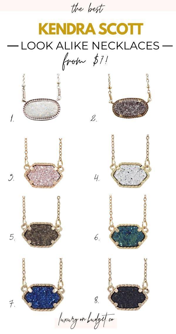 Kendra Scott Look Alike Jewelry : kendra, scott, alike, jewelry, Kendra, Scott, Necklace, Alike, Alternatives, Every, Budget, Jewelry, Design, Inspiration,, Necklace,