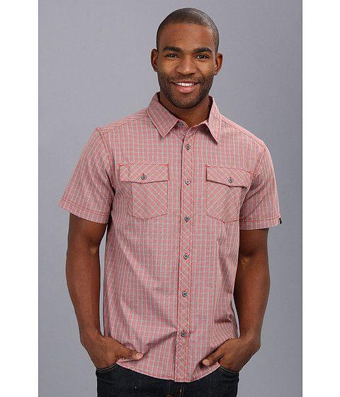 A versatile, lightweight travel shirt in a modern plaid style.