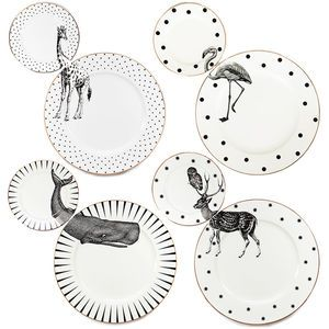 Animal Plate Set, repinned by rheingruen.blogsot.de