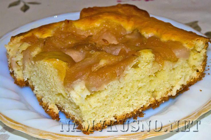 Открытый пирог с яблочным вареньем