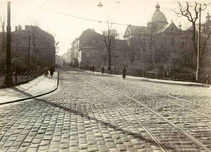 1935 rok, ulica Szewska - fotografia wykonana z ul. Karmelickiej.