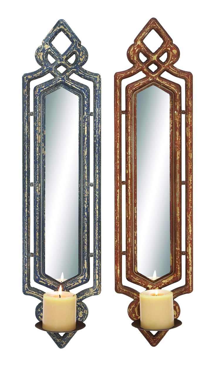 holders sconces metal wood the sconce crystal for mirrored regarding hanging wall measurements x candle mirror decorative