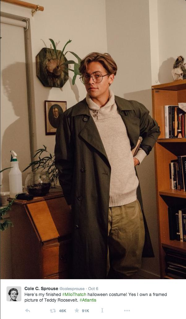 Dylan Sprouse is Milo Thatch for Hallowe'en. It doesn't get much better than that.