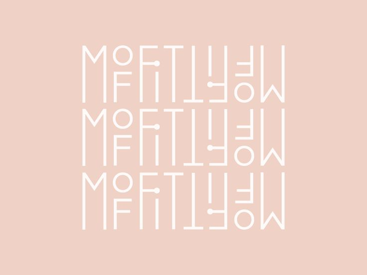 Typography Pattern Concept | Design by Rowan Made