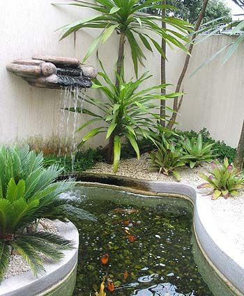 fontes de água no jardim - Pesquisa Google