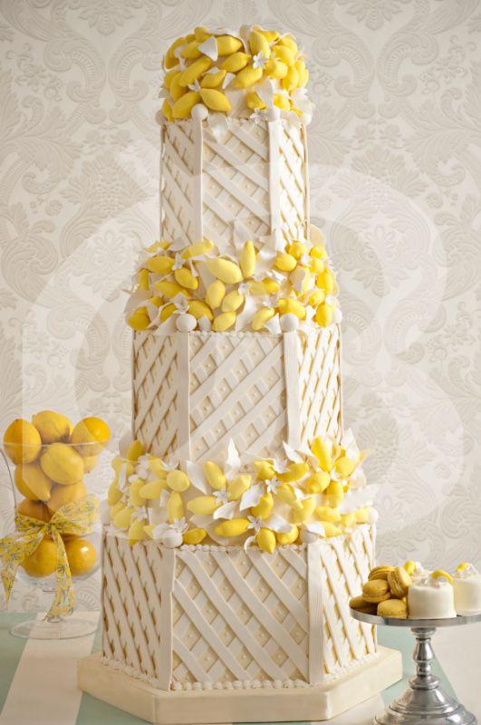 Beyaz Fırın - Limon temalı düğün pastası
