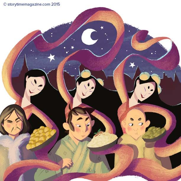 An amazing myth from Nepal in Storytime Issue 14: The Witches of Tibet. Illustration by Marine Gosselin (http://marinegosselin-illustration.jimdo.com) ~ STORYTIMEMAGAZINE.COM