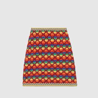 GG rainbow velvet skirt