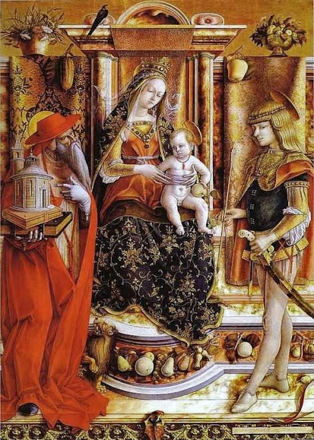 Carlo Crivelli (Italian painter, 1435-1495) Madonna of the Swallow 1492