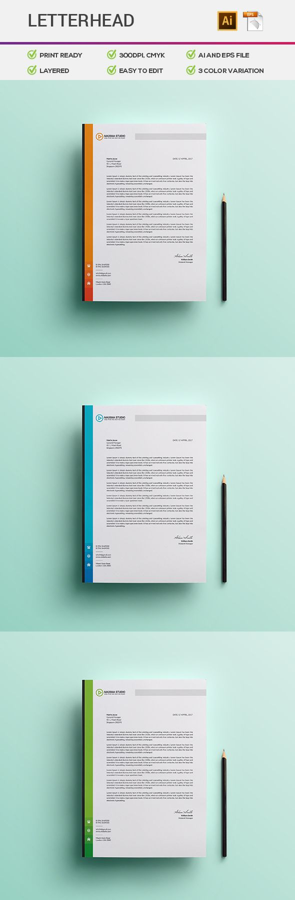 letterhead design on behance - Letterhead Design Ideas