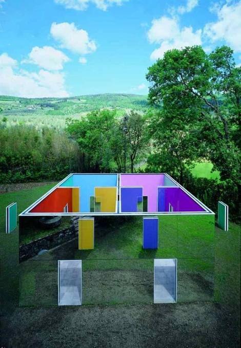 Daniel Buren, La cabane éclatée aux 4 salles on ArtStack #daniel-buren #art