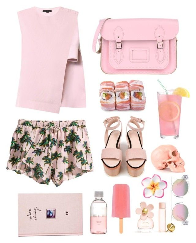 Pretty in Pink by amadewi on Polyvore featuring polyvore, fashion, style, Alexander Wang, H&M, Cacharel, The Cambridge Satchel Company, Madewell, Marc Jacobs, Lord & Berry and ASOS