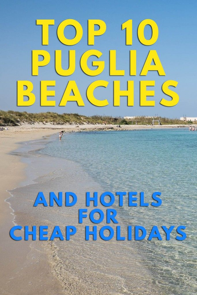 Great beach holiday in Puglia region in Italy! Gorgeous beaches, fantastic food and affordable hotels!