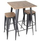 Abella Counter Height Pub Table Set - Contemporary - Indoor Pub And Bistro Sets - by Overstock.com