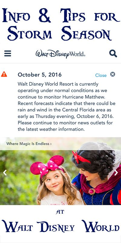 The latest on Hurricane Matthew, cancellation policies, and tips for storm season at Walt Disney World!