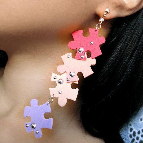 Orecchini Puzzle: Nuova collezione Bibidi: VIeni a scoprirla!  http://www.alittlemarket.it/orecchini/puzzle_p_e_14_orecchini_in_moosgummi_in_colori_pastello-6953209.html