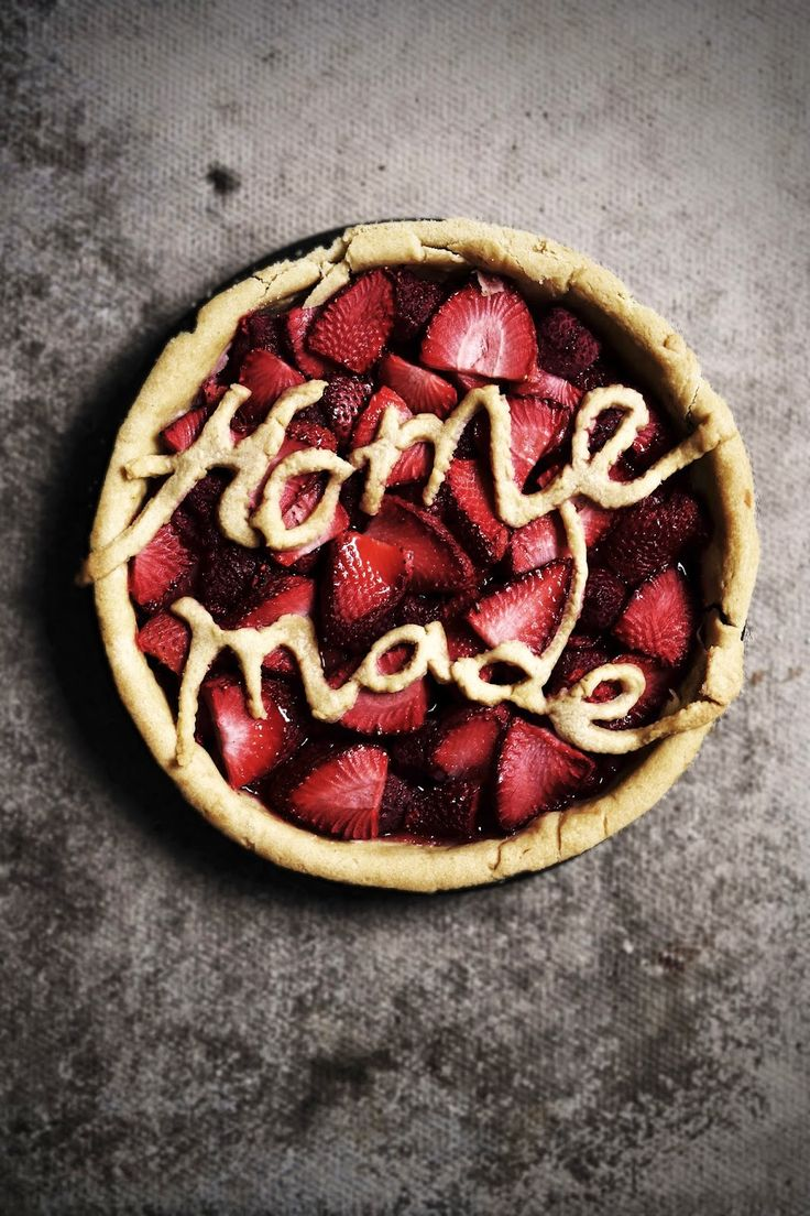 strawberry and raspberry tart.