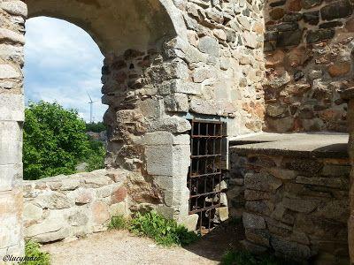 The ruins of Brahehus Castle