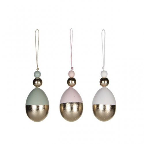 Mica Decorations pastel dipped paaseieren / set van 3