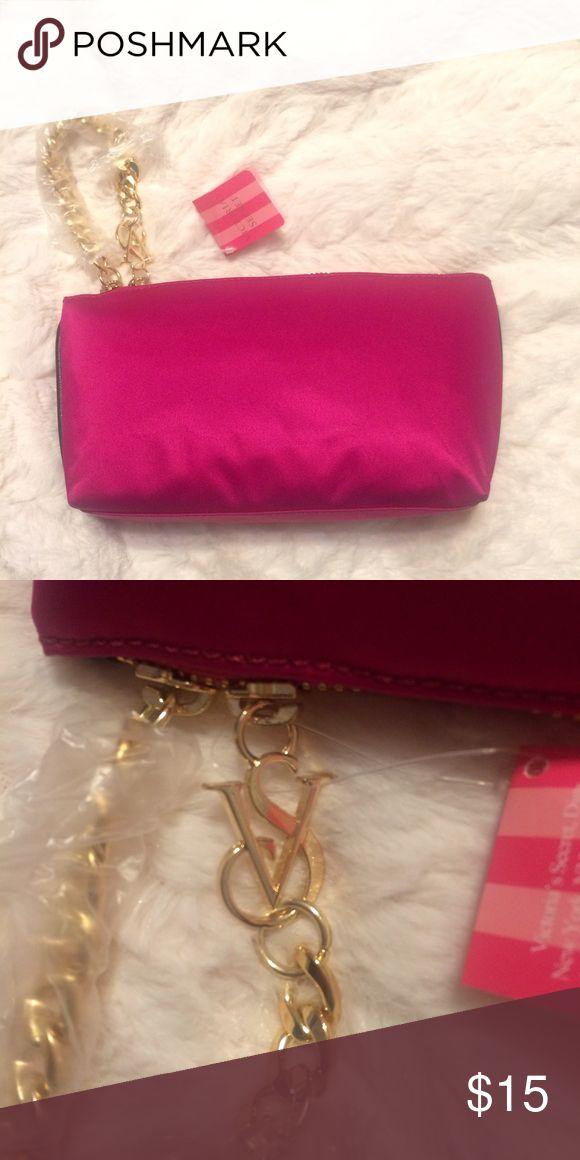 Victoria's Secret Mini Chain Zip Pouch Victoria's Secret Mini Chain Zip Pouch Color Lavish Pink Victoria's Secret Bags Cosmetic Bags & Cases