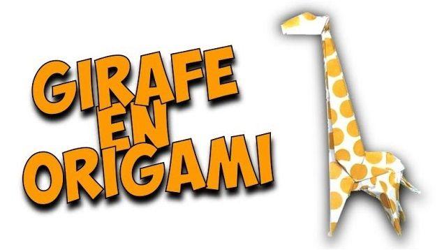 Découvrez Comment Faire Une Girafe En Papier Origami