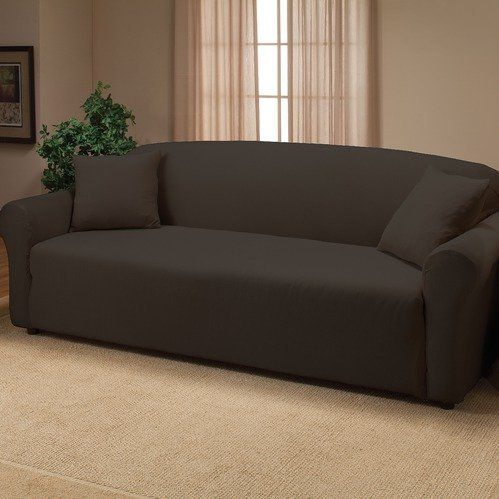 Sofa Beds Madison Home Stretch Jersey Sofa Slipcover in Black