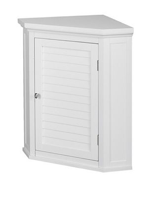40% OFF Elegant Home Fashions Slone Corner Wall Cabinet with Shutter Door, White