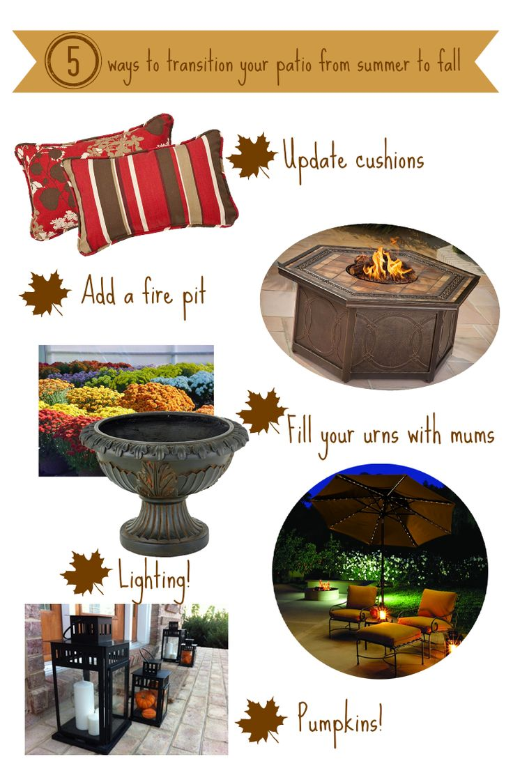 Trees N Trends Unique Home Decor: 5 Ways To Transition Your Patio From  Summer To