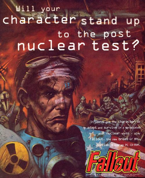 Old Fallout poster. So awesome!  Fallout History  fallout fallout 1 fallout 2 classic fallout old fallout twitter