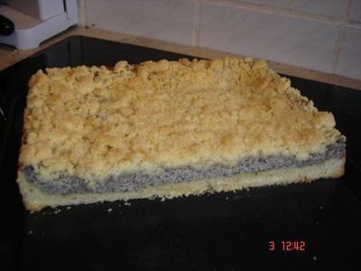 Vanille-Mohn-Kuchen mit Quark