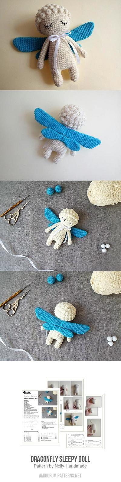 Dragonfly Sleepy Doll amigurumi pattern