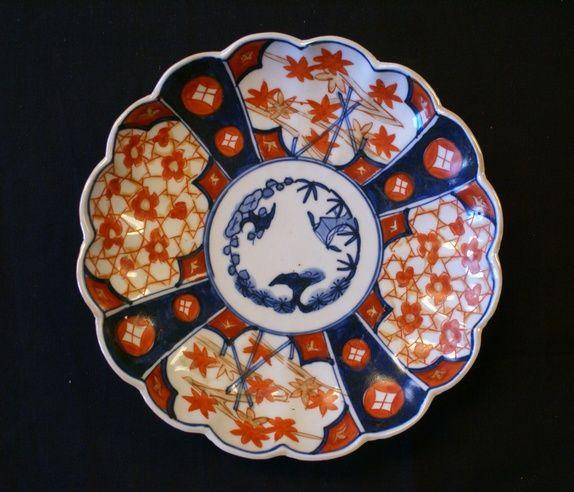 Gammelt IMARI- fat fra Japan
