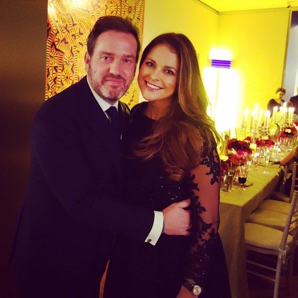 Greetings from New York! Today, princess Madeleine and Chris O'Neill attended a reception given by Valentino, Princess Madeleine's wedding dress designer.