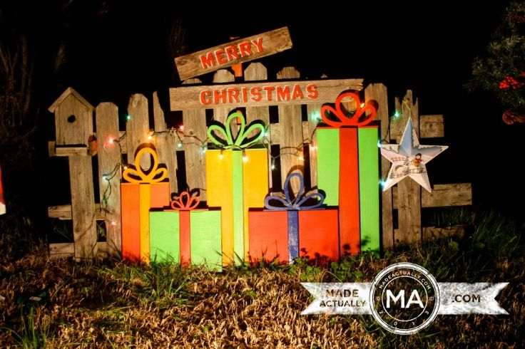 wooden+christmas+yard+decorations | More yard art, this time for Christmas. Found wood, and a little paint ...