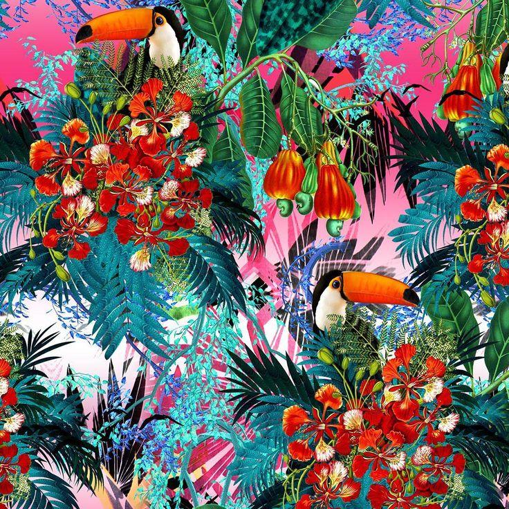 Feelin HOT HOT HOT, Tropical Paradise by JLB Designer available on patternbank → https://patternbank.com/jlbdesigner