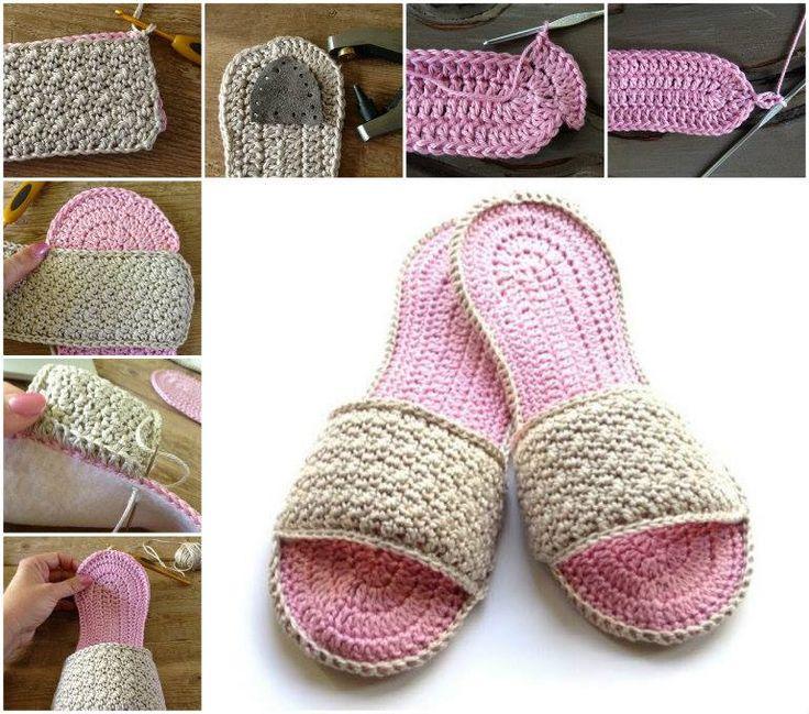 Crochet Spa Slippers Free Pattern