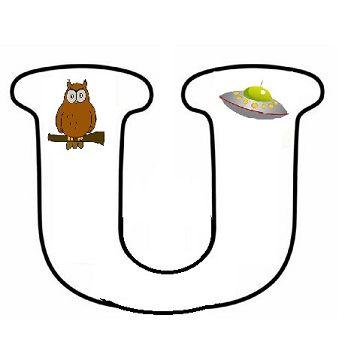 * Letterpuzzel - Letter U